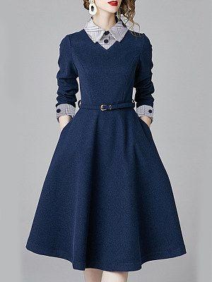 Women's wild stitching dress