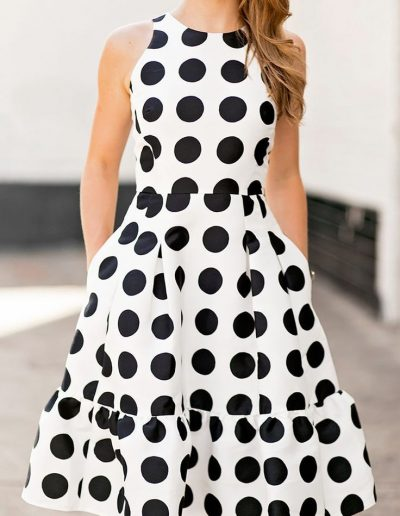 polka dot flounce dress _ a lonestar state of southern